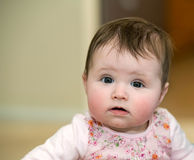 Beautiful baby in flowered dress Royalty Free Stock Photo