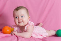 Beautiful baby girl Stock Photography
