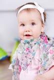 Beautiful baby girl stock photo
