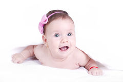 Beautiful baby girl Stock Photos