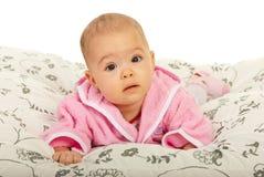 Beautiful baby girl crawling Stock Images
