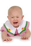 Beautiful Baby Girl Crying Stock Image