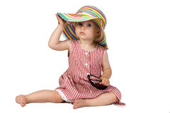 Beautiful baby girl - little lady. Simi - beautiful little baby girl. Little lady Stock Images