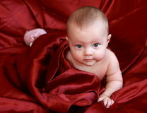 Beautiful baby girl lying Royalty Free Stock Image