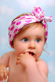 Beautiful baby girl ,10 months Royalty Free Stock Photo