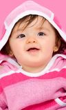 Beautiful baby girl in pink Stock Image