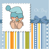 Beautiful baby girl shower card Stock Photo