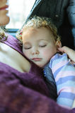 Beautiful baby girl sleeping Royalty Free Stock Photos