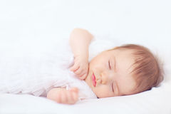 Beautiful baby girl sleeping Stock Image