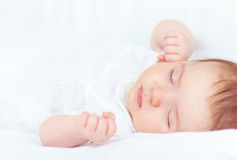 Beautiful baby girl sleeping Royalty Free Stock Photography