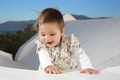 Beautiful baby girl smiling Stock Photo
