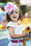 Beautiful baby girl surprised Royalty Free Stock Photo