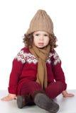 Beautiful baby girl with wool cap Stock Photos