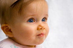 Beautiful Baby With Glossy Lips Royalty Free Stock Photo