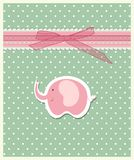 Beautiful baby greeting card vector Stock Photo