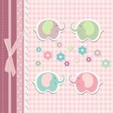 Beautiful baby greeting card vector Royalty Free Stock Image