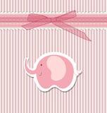 Beautiful baby greeting card vector Royalty Free Stock Photos