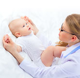 Beautiful baby hands massage Royalty Free Stock Photo
