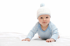Beautiful baby in hat Stock Images