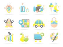 Beautiful Baby Icons Royalty Free Stock Image