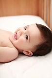 Beautiful baby laughing Royalty Free Stock Image