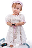 Beautiful baby with a mobile phone Royalty Free Stock Photos