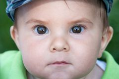 Beautiful baby portrait outdoors Royalty Free Stock Photos