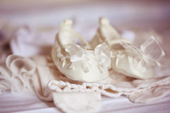 Beautiful baby shoes Stock Photos