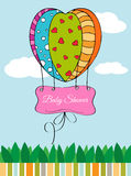 Beautiful baby shower card Royalty Free Stock Photos