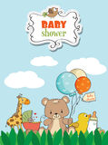 Beautiful baby shower card Royalty Free Stock Photography