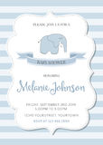 Beautiful baby shower template Stock Images