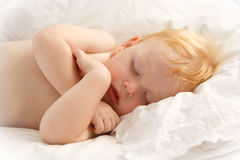 Beautiful baby sleeping Royalty Free Stock Photos