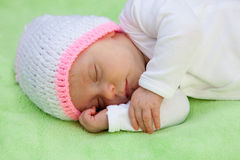 Beautiful Baby Sleeping Stock Photo
