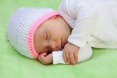 Beautiful Baby Sleeping Stock Photo
