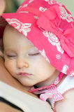 Beautiful Baby Sleeping On Mother's Chest Royalty Free Stock Images