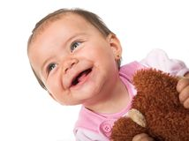 Beautiful baby smiling Stock Images