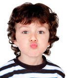 Beautiful baby throwing a kiss Stock Photography