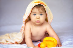 Its time for bathing. royalty free stock image