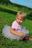Beautiful Baby in Tutu Royalty Free Stock Photo