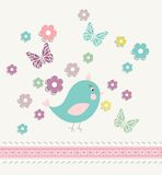 Beautiful baby vintage greeting card vector Royalty Free Stock Photography