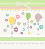 Beautiful baby vintage greeting card vector Royalty Free Stock Photo