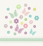 Beautiful baby vintage greeting card vector Stock Photo