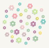 Beautiful baby vintage greeting card vector Stock Image