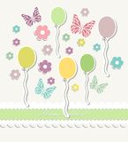 Beautiful baby vintage greeting card vector Royalty Free Stock Photos