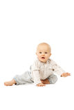 Beautiful baby on white background. Child. Little cute kid Royalty Free Stock Image