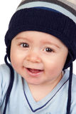 Beautiful baby with wool cap Stock Photo