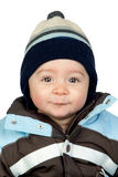 Beautiful baby with wool cap Royalty Free Stock Photo
