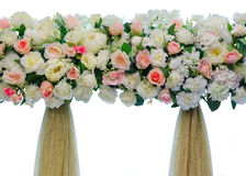Beautiful backdrop flowers for wedding ceremony Royalty Free Stock Photo