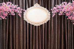 Beautiful backdrop in wedding ceremony scene. - Shallow of focus Royalty Free Stock Photography