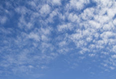 Beautiful background of Altocumulus Cloud on the blue sky Stock Photo